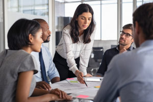 Professional leadership in a meeting